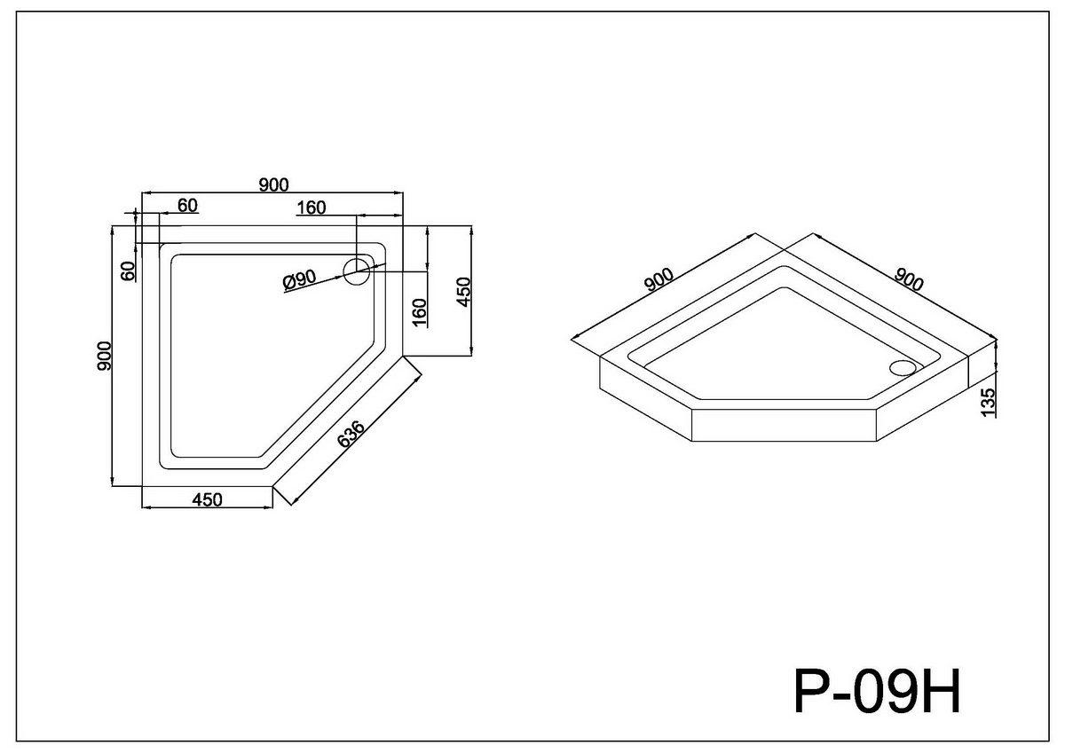 Монтажная схема поддона P-09H