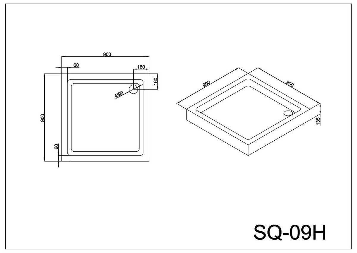 Монтажная схема поддона SQ-09H