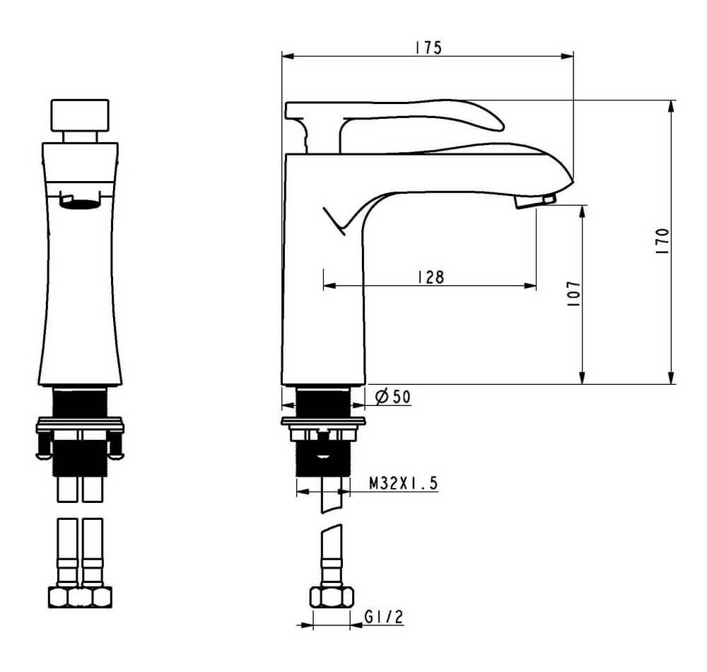 Чертеж смесителя OLS-K1082