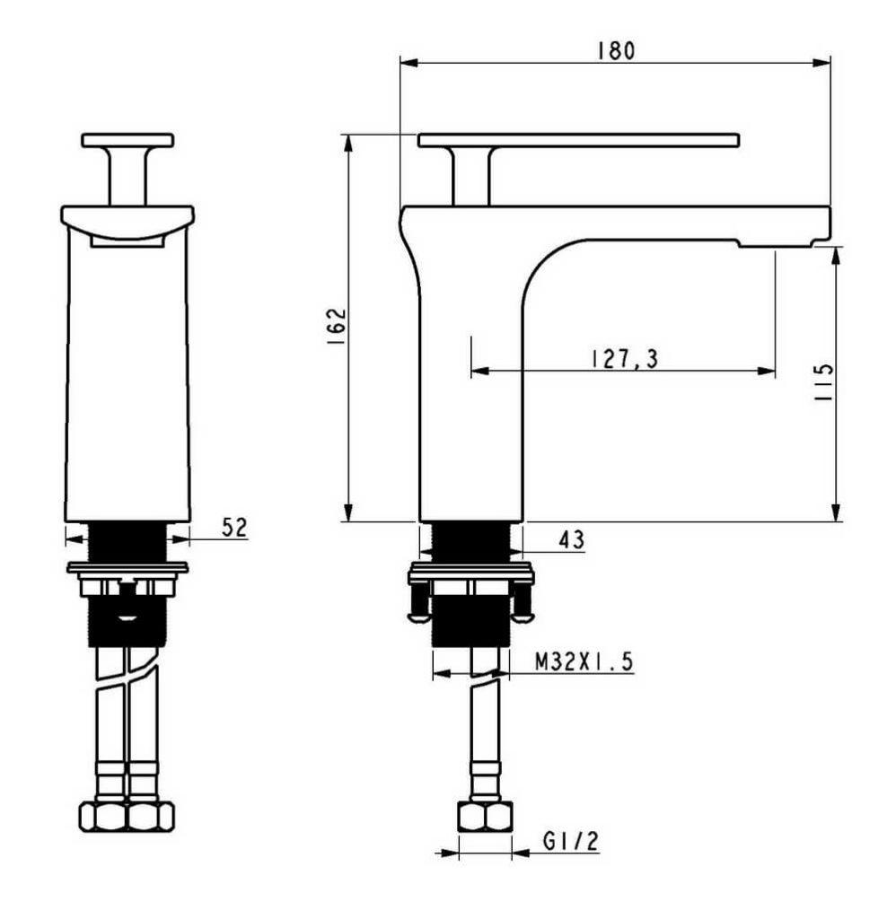 Чертеж смесителя OLS-K1086